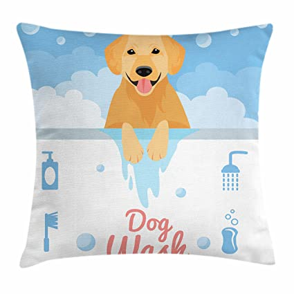 Amazon Ambesonne Golden Retriever Throw Pillow Cushion Cover Inspiration Washing Decorative Pillows