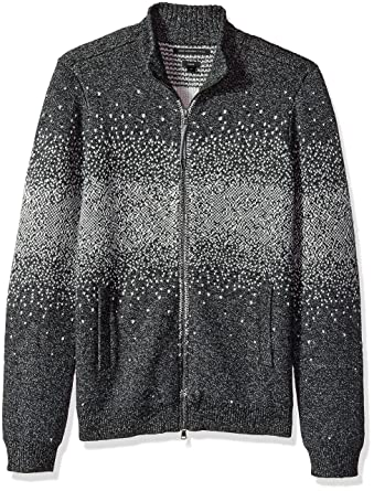 2ebd0811c557 Amazon.com  John Varvatos Men s Zip-Front Sweater  Clothing