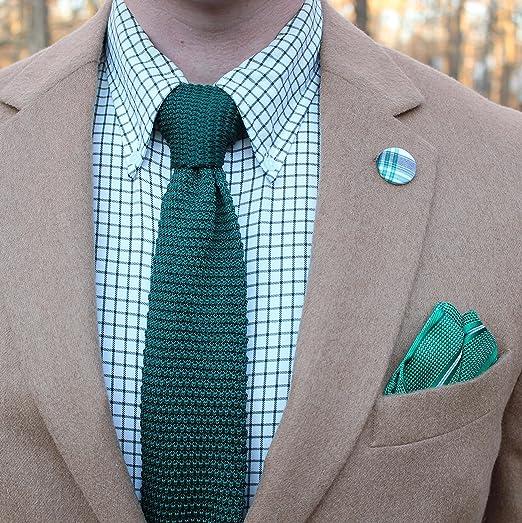 Corbata estrecha de punto verde | 5 años de garantía | Regalos ...