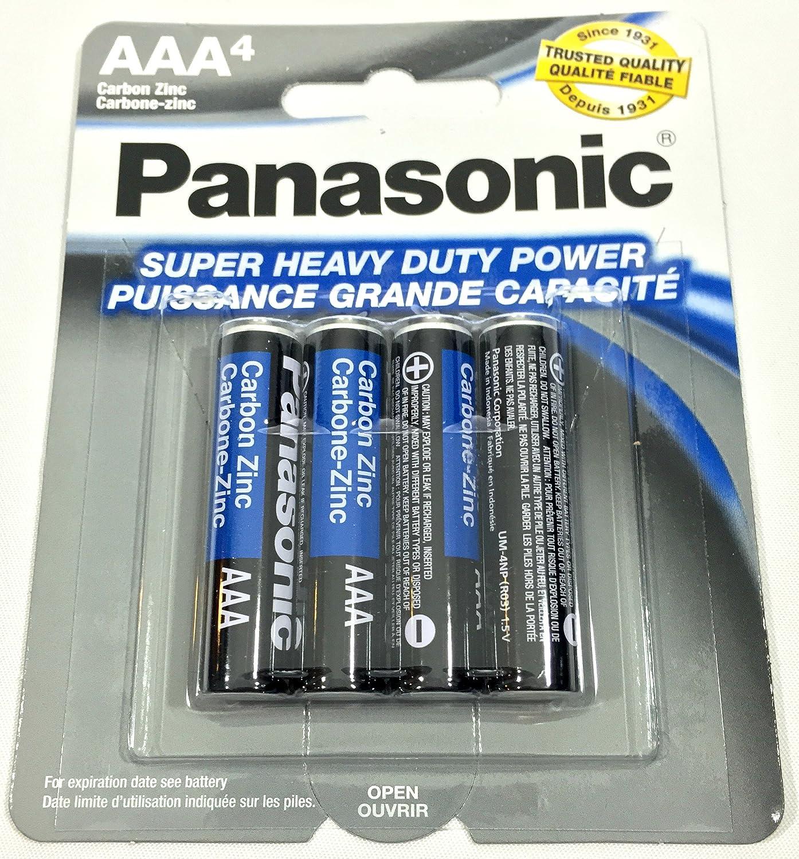 4pc Panasonic AAA Batteries Super Heavy Duty Power Carbon Zinc Triple A Battery 1.5v