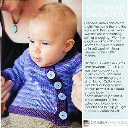 Amazon Carina Spencer Knitting Pattern Gift Wrap Sweater