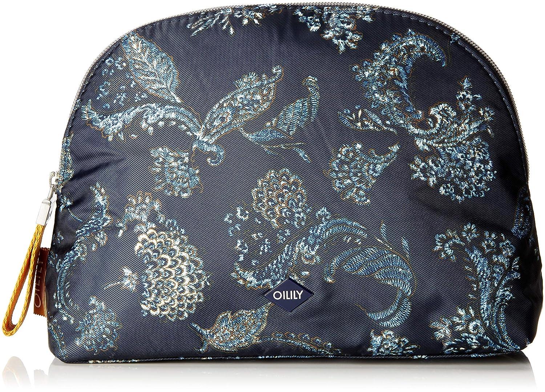 Oilily Damen Vivid Cosmeticpouch Lhz 2 Clutch, 9x19x27 cm Blau (Blue-Black) 4170000516