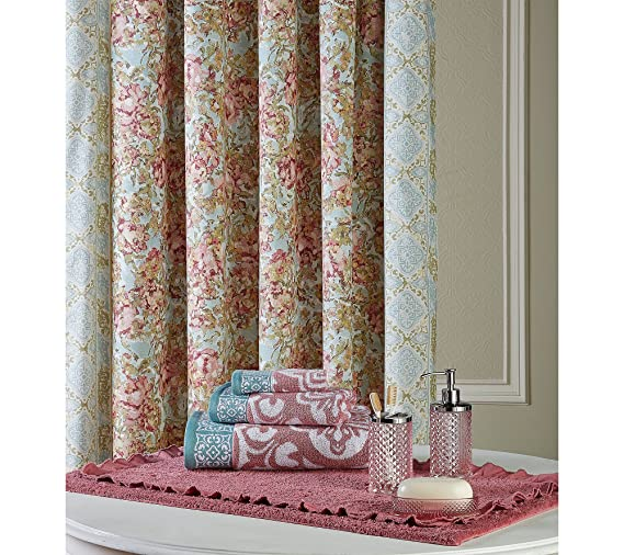 adacc85f6c02 Amazon.com  Jessica Simpson Marina Shower Curtain 72X72  Home   Kitchen