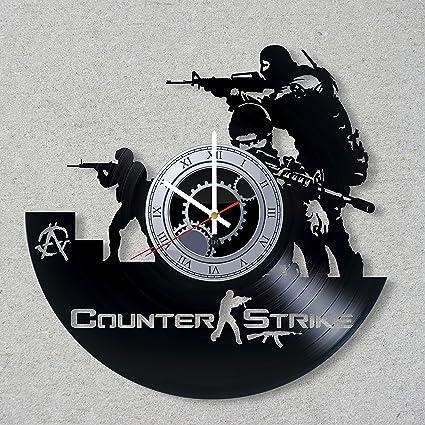 DJ Disco de vinilo reloj de pared juego de counter-Strike CS Go vapor de