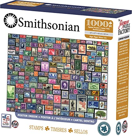 The Jigsaw Puzzle Factory Smithsonian-Stamps Jigsaw Puzzle (1000 Piece), Full-Color
