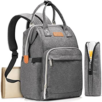 Diaper Bag Backpack with Changing Pad and