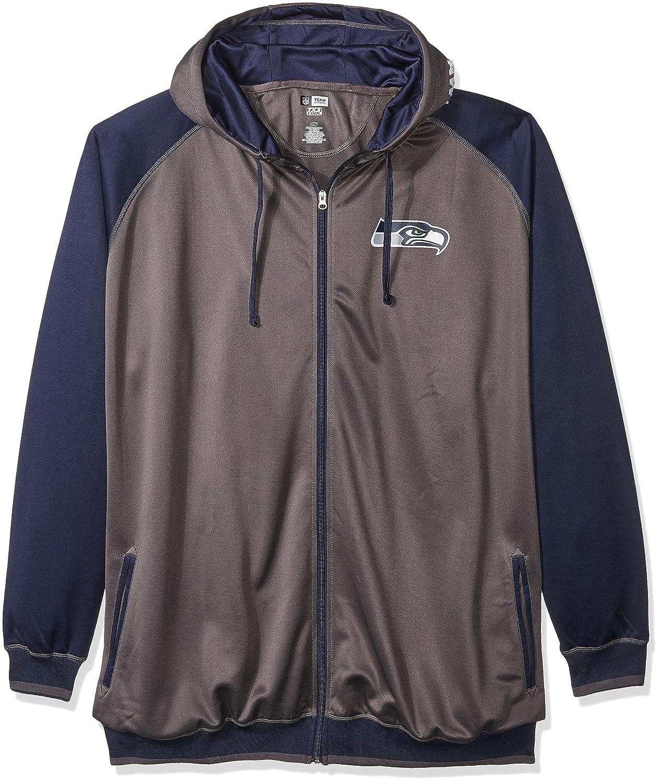 timeless design fc82c d5d31 NFLメンズSeahawks B0752W5SQR Charcoal/Navy 3X/Tall Fleece ...