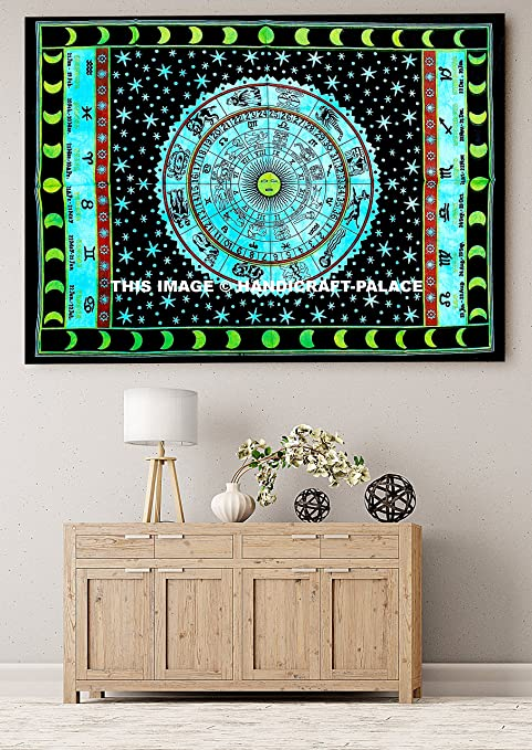 Indian Cotton King Size Tapestry Shibori Mandala Ethnic Wall Hanging Tapestries