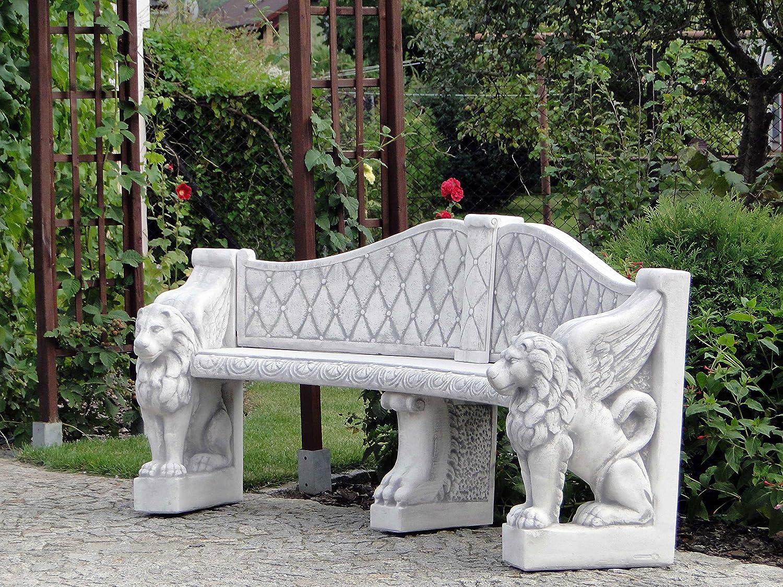 Herrliche Sitzbank Motiv Lowen Japanischer Garten Aus Steinguss