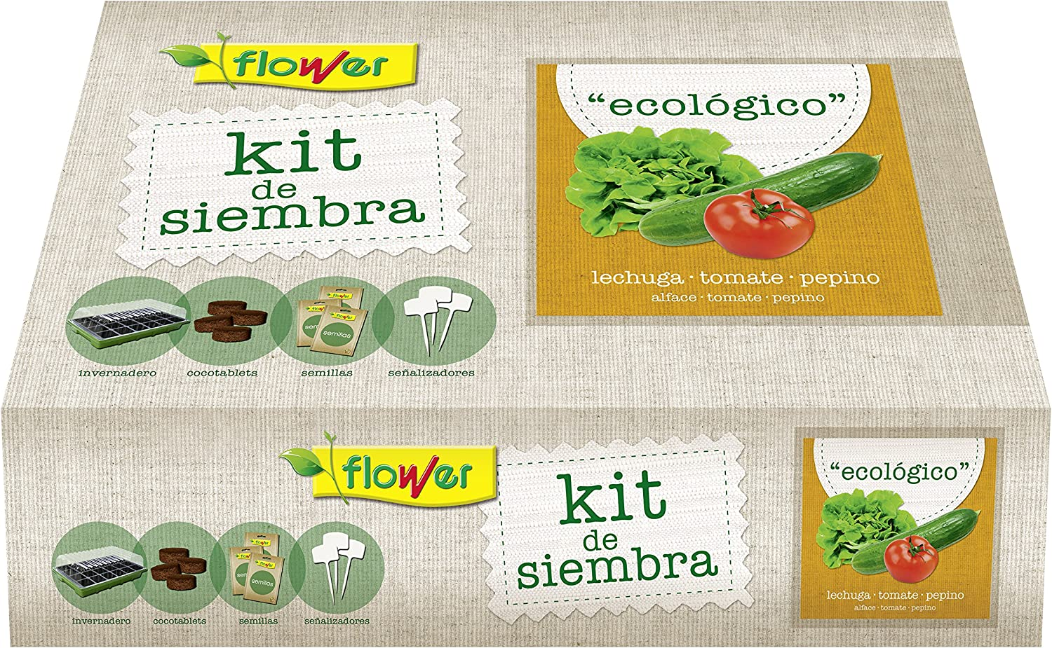 Flower 51178 51178-Kit Semillas ecologico, No Aplica, 38x24.5x9.5 ...