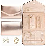 Altitude Boutique Travel Jewelry Organizer Roll Foldable Jewelry Case for Journey Packing Vacation-Rings, Necklaces, Bracelet