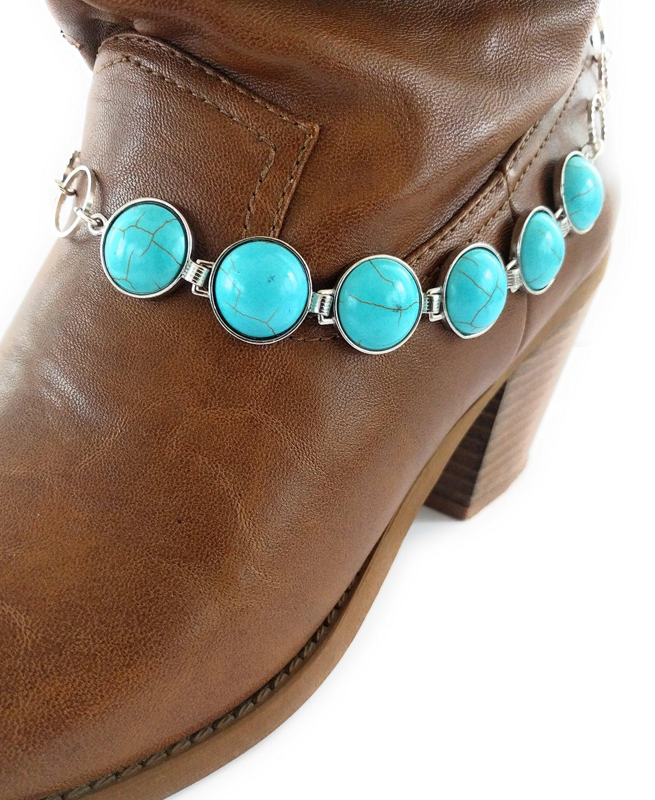Turquoise Boot Bracelet Chain Wrap