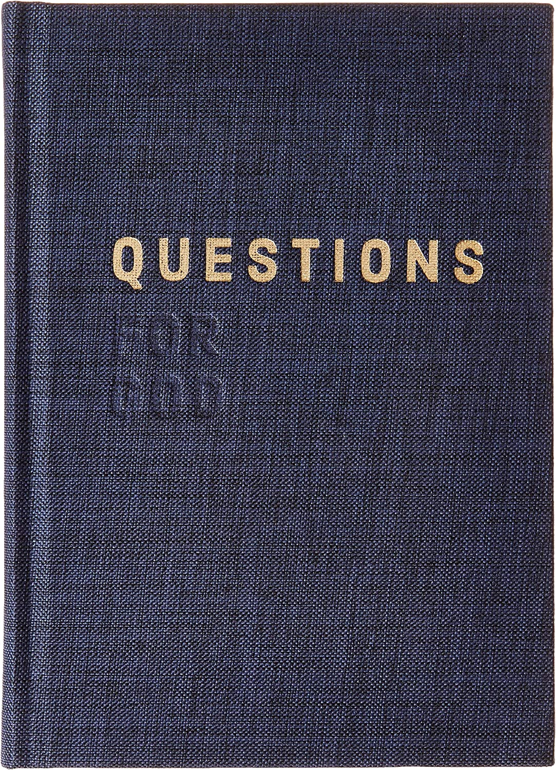even Teens and Kids Questions for God Prayer Notebook Hardcover Book With Letterpress Embossed Cover Daily Devotional for Meditation and Contemplation Gratitude Journal For Women Men