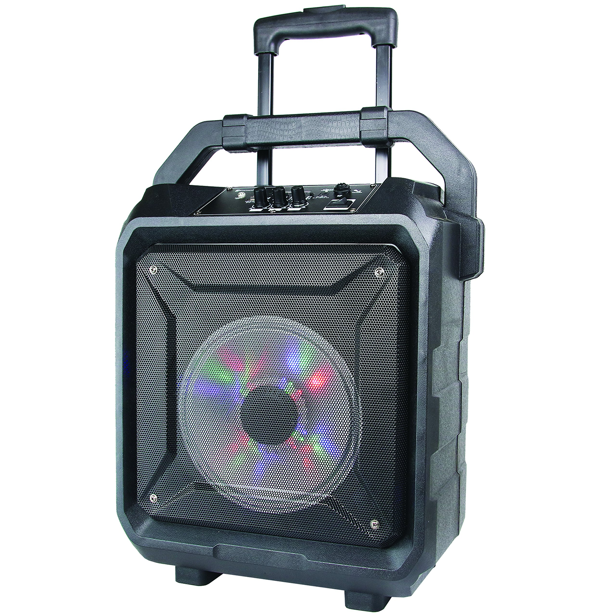 SuperSonic Tailgate Bluetooth Speaker 8-Inch, Black (IQ-5508DJBT)