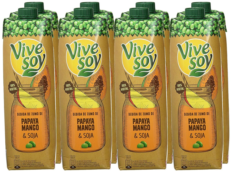 Vivesoy Papaya Mango Y Soja Pack 8X1 L: Amazon.es: Alimentación y bebidas