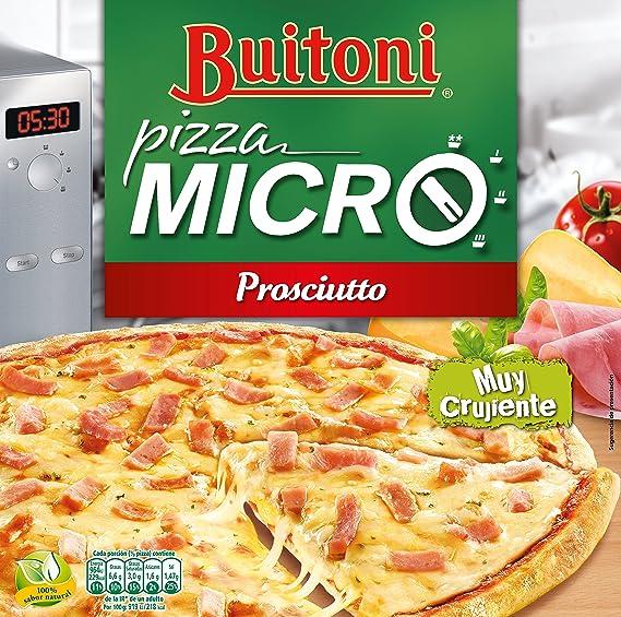 BUITONI Pizza MICRO Proscuitto - Pizza Congelada de jamón y queso ...