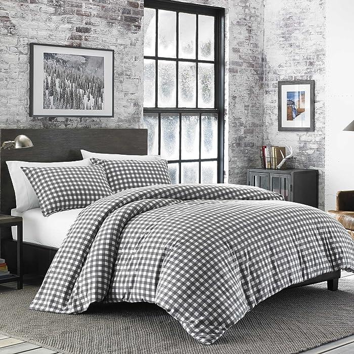 Eddie Bauer 223751 Preston Comforter Set, King, Dark Grey