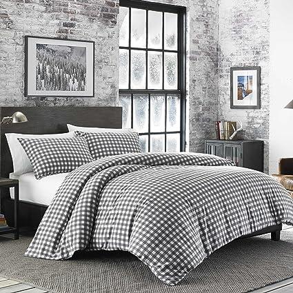 Amazon.com: Eddie Bauer 223751 Preston Comforter Set, King, Dark Grey: Home  U0026 Kitchen