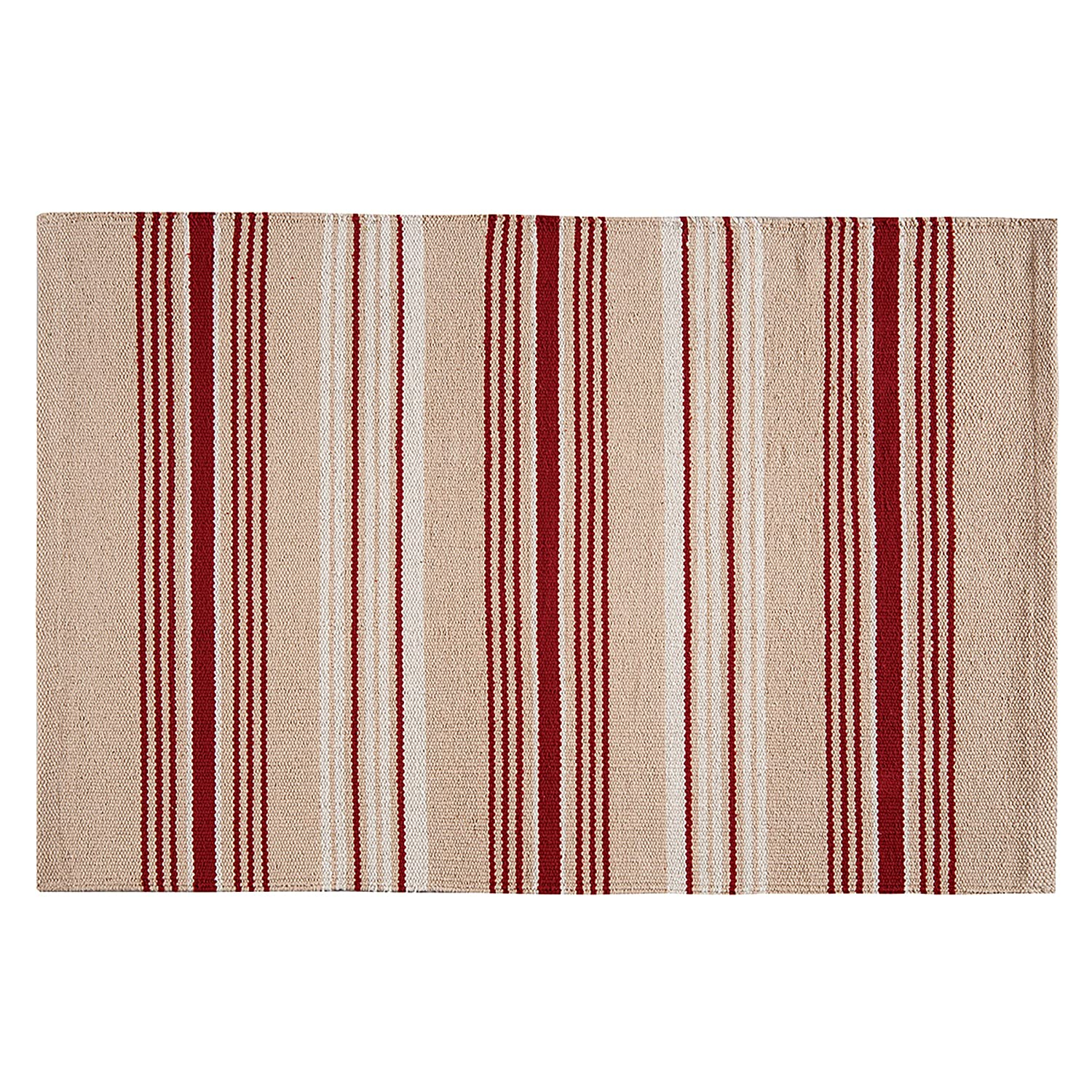 French Red Stripes Rug (3