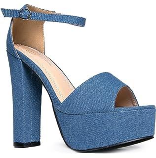 e59604dee3f722 J. Adams Platform Ankle Strap High Heel - Peep Toe Sandal Pump - Formal  Party