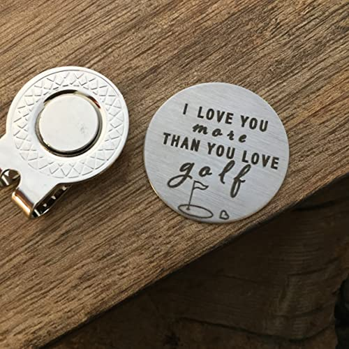 Valentines Day Gift For Him I Love You More Than You Love Golf Golf Ball  Marker