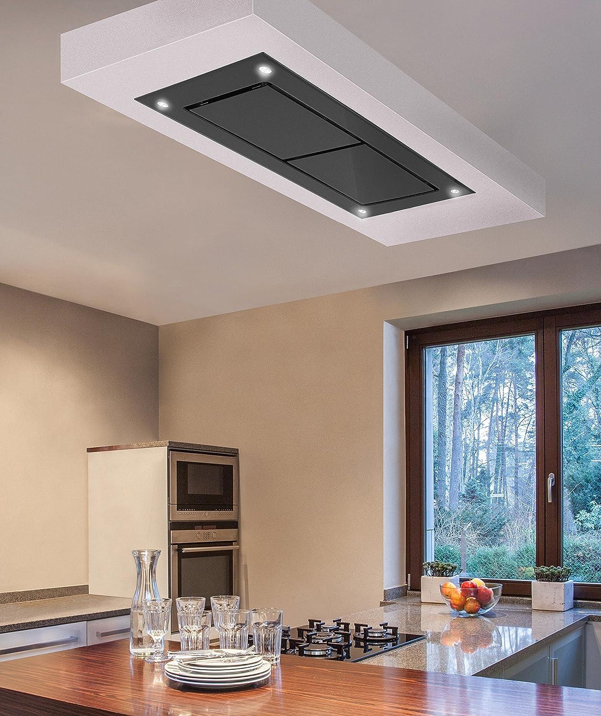 Dusk T2 100 cm funda negro extractor de techo de cristal con Inline Motor 1400 M3/H: Amazon.es: Grandes electrodomésticos