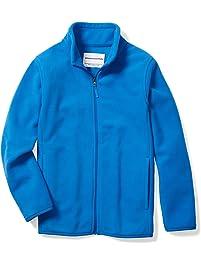 Amazon Essentials Big Boy's Full-Zip Polar Fleece Jacket Outerwear, royal blue, Large