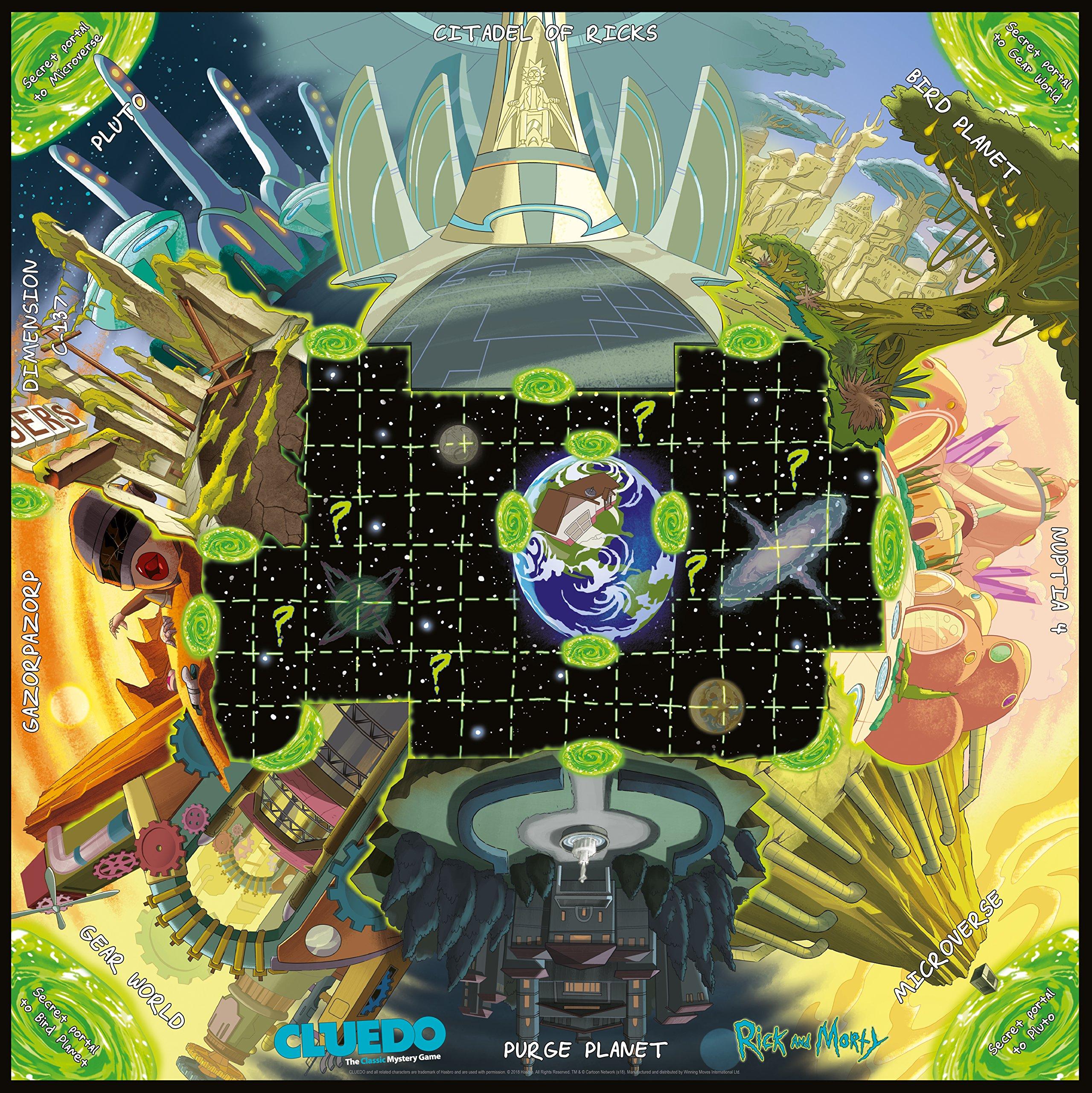 Rick And Morty Cluedo Board Game: Amazon.es: Libros en idiomas extranjeros