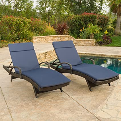 Swell Salem Outdoor Wicker Adjustable Chaise Lounge With Arms W Red Cushion Set Of 2 By Christopher Knight Home Gmtry Best Dining Table And Chair Ideas Images Gmtryco