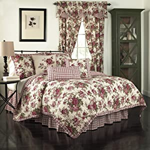 Waverly 14770BEDDKNGTSN Norfolk 104-Inch by 90-Inch Reversible 4 Piece King Quilt Collection, Tea Stain