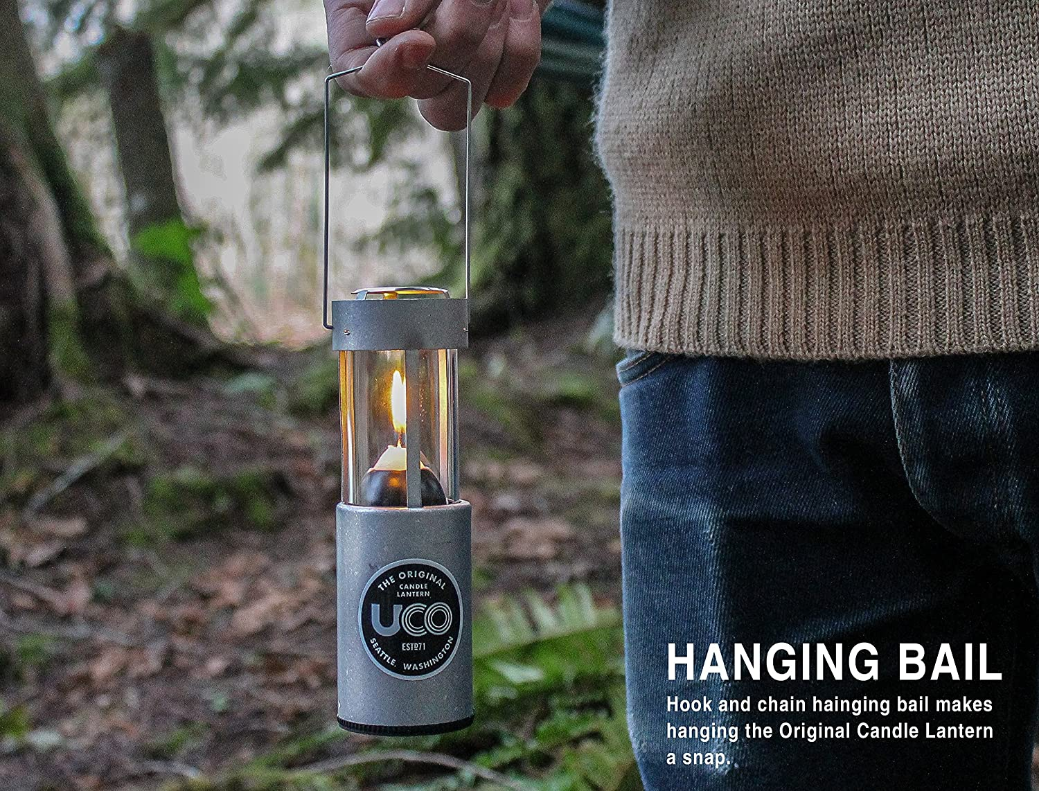 UCO Original Candle Lantern Value Pack with 3 Candles and Storage Bag, Aluminum, One Size (L-A-VPUCO) : Candle Camping Lanterns : Sports & Outdoors