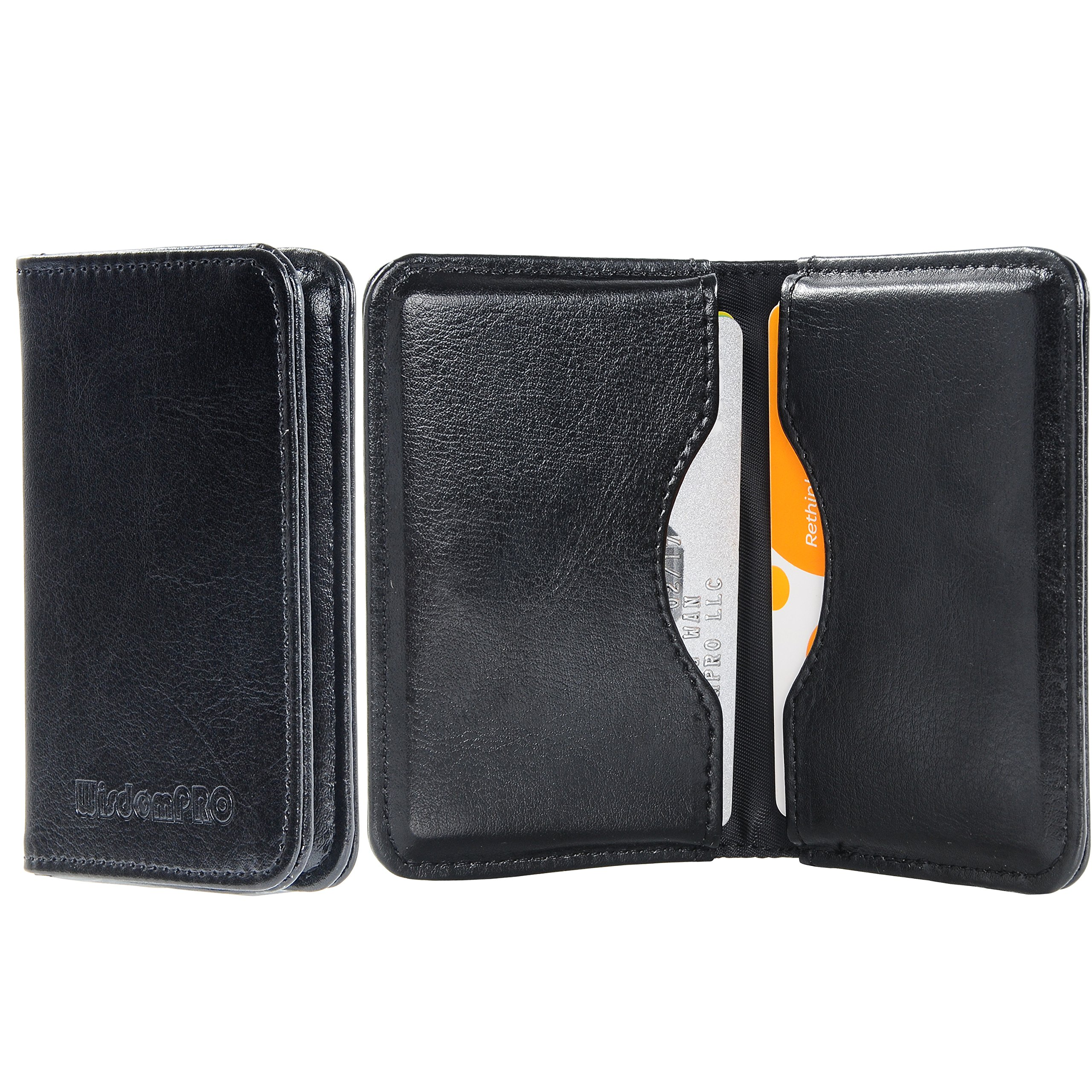 Mens wallet business card holder 2 sided credit card case pocket mens wallet business card holder 2 sided credit card case pocket size organizer reheart Choice Image