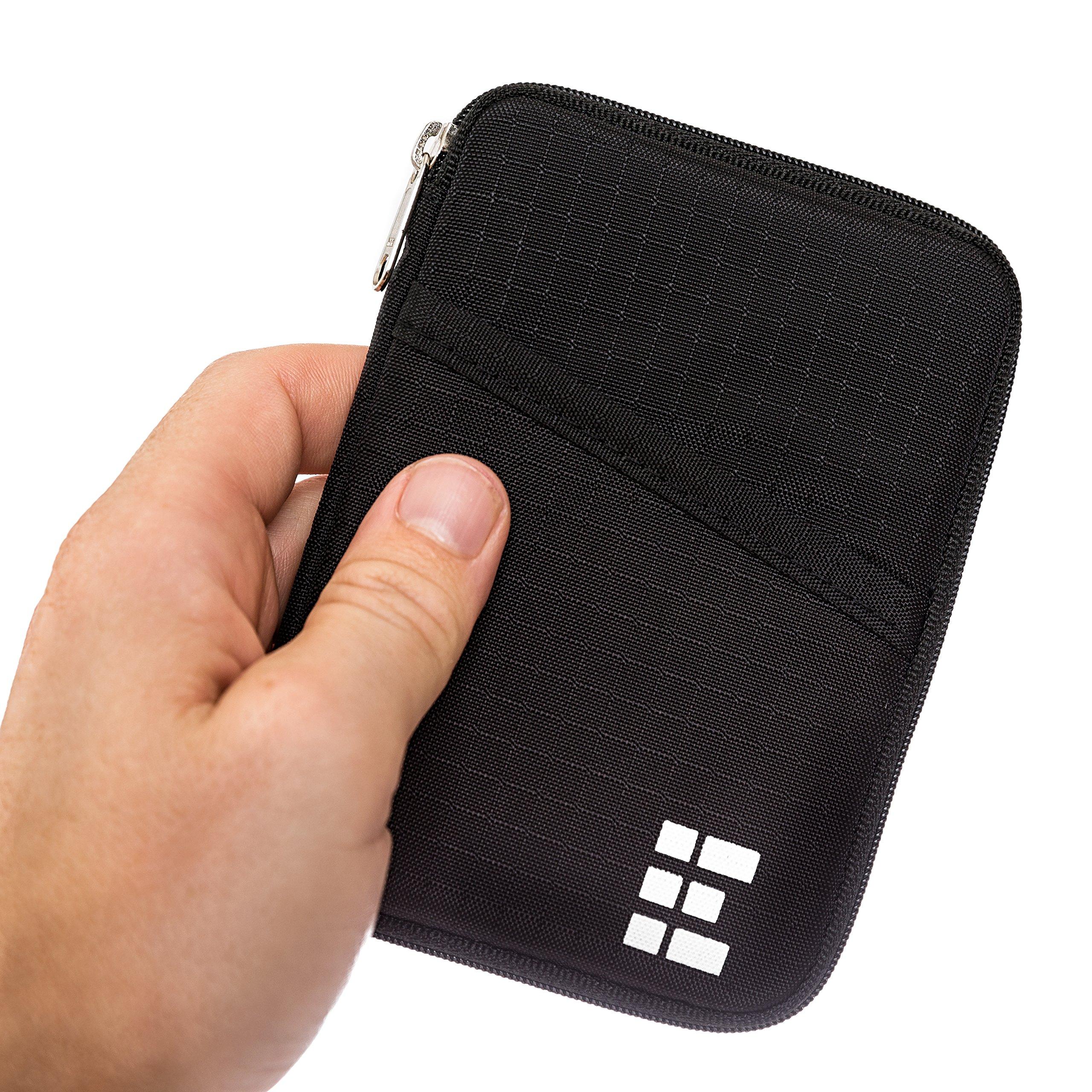 Cartera de Viaje Portadocumentos - Funda para Pasaporte - Organizador de Viajes con Bloqueo RFID product