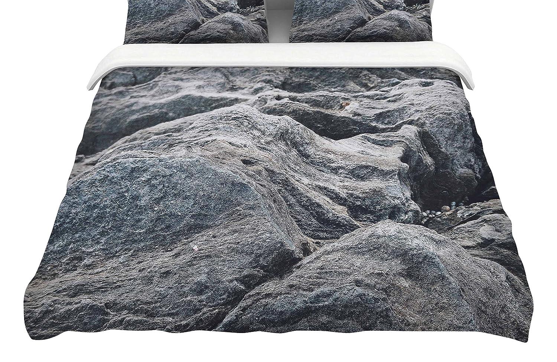 Kess InHouse Will Wild Stone Landscape King Cotton Duvet Cover 104 x 88 104 x 88