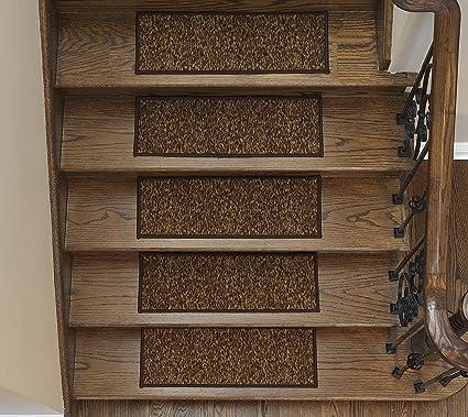 Ottomanson Escalier Affordable Skid Resistant Rubber Backing (Non Slip)  Carpet Stair Treads