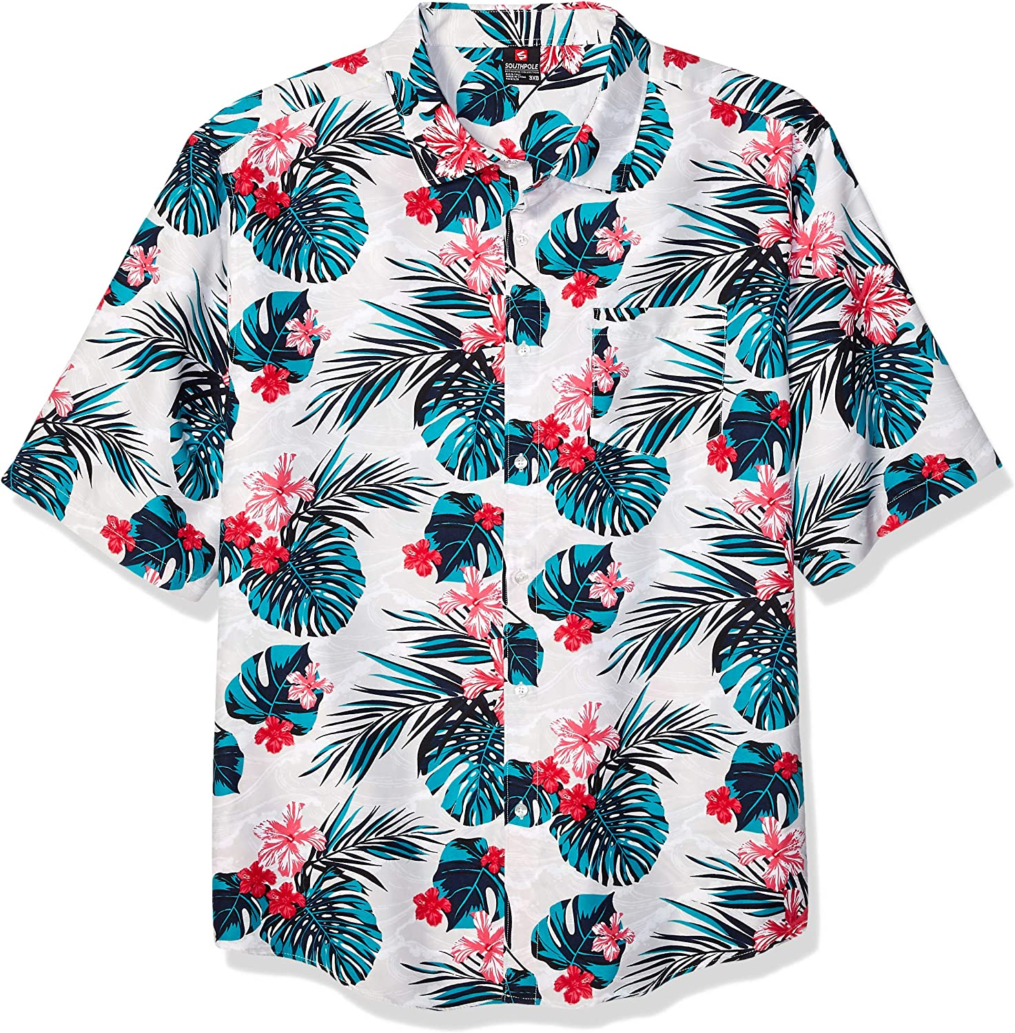 Southpole Men's All Over Print Woven Shirt: Clothing