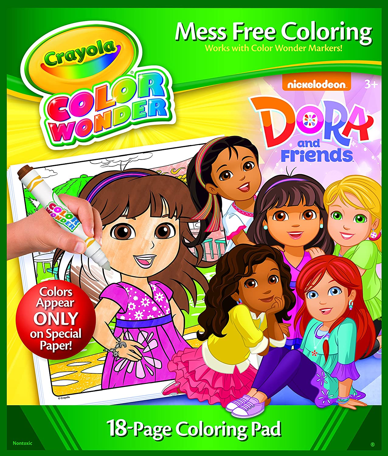 Amazon.com: Crayola Color Wonder Dora Coloring Pad: Toys & Games