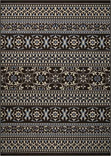 product image for Maples Rugs Zoe Area Rugs for Living Room & Bedroom [Made in USA], 7 x 10, Brown
