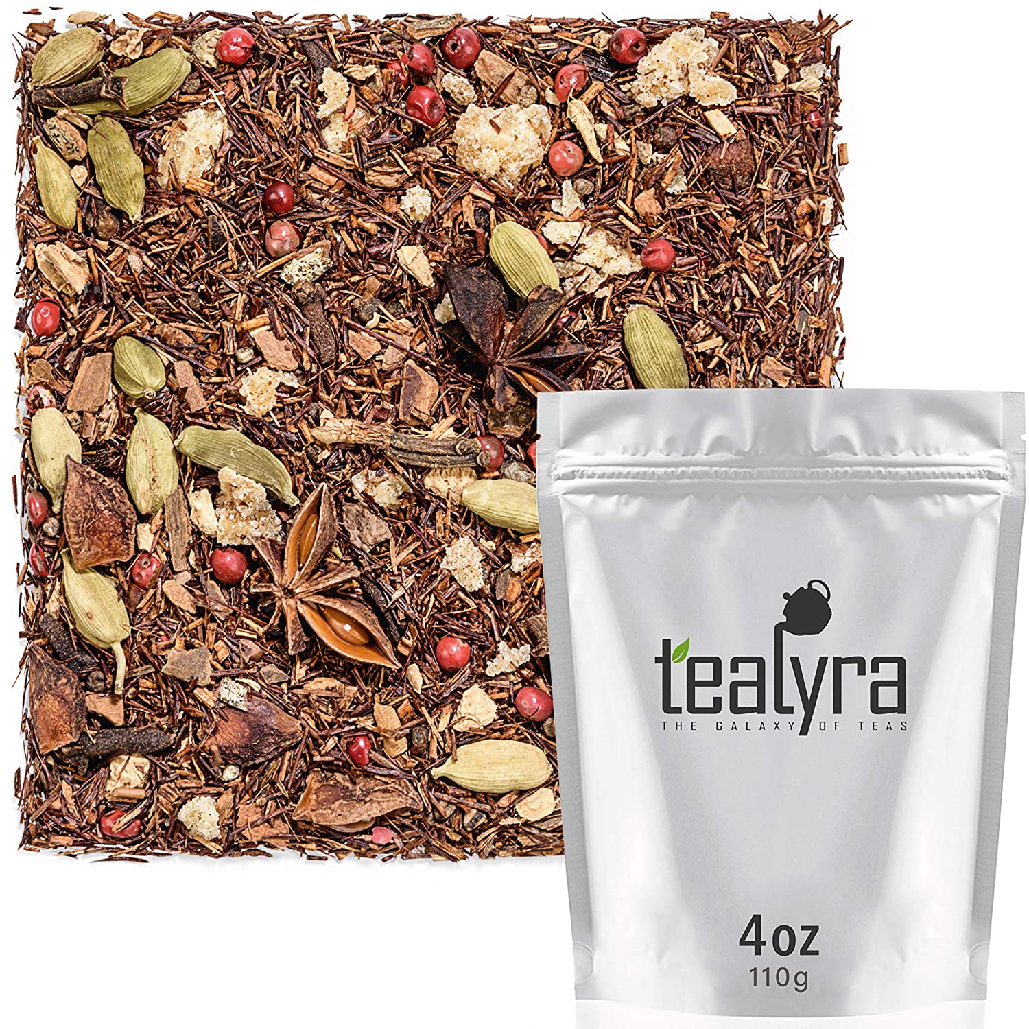 All Natural Red Bush 4-ounce Moroccan Orange Rooibos Caffeine Free Cinnamon Herbal Loose Leaf Tea Ginger Fennel Tealyra 112g Vitamins and Antioxidants Rich