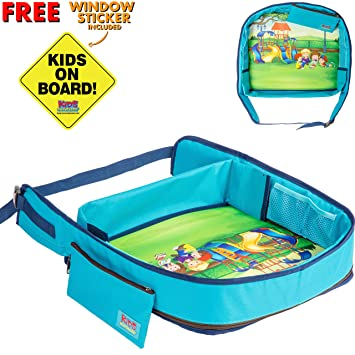 toddler travel tray snack and play kids activity tray for car seat train or