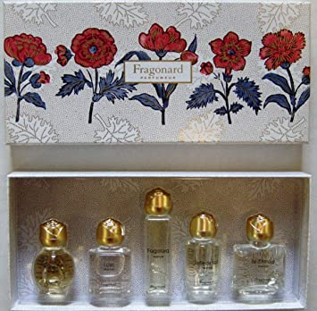 Amazoncom Fragonard Collection Of 5 Perfume Miniatures Gift Box