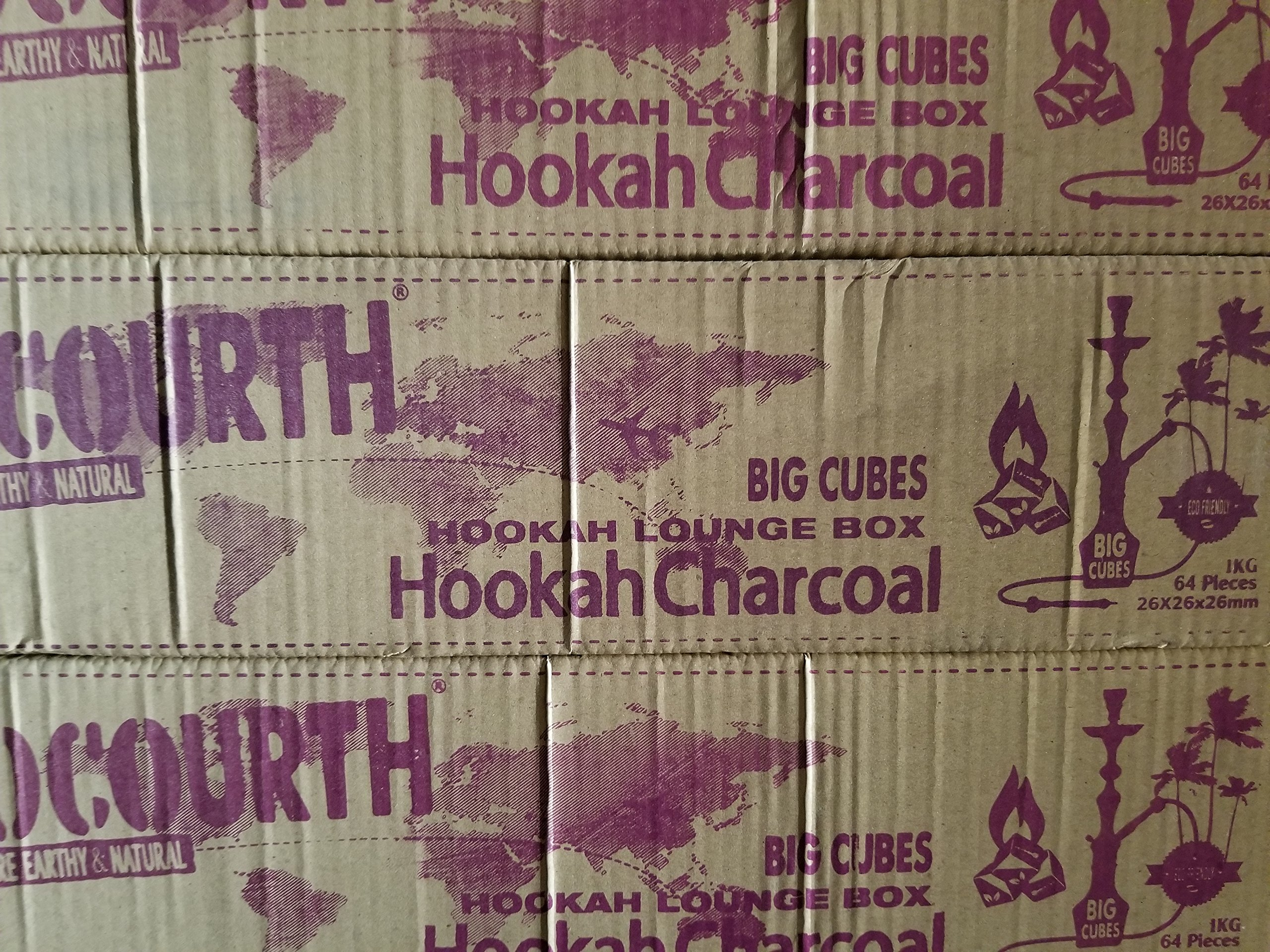 BIG CUBES CocoUrth Coals Hookah Lounge Case Hookah Natural Coconut Charcoal 640 Pieces BIG Cube Nara 10 Kilo Shisha Coal