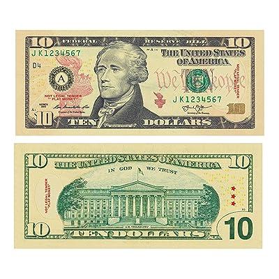 Hot Racks Fake Ten Dollar Bill (Set of 100): Toys & Games