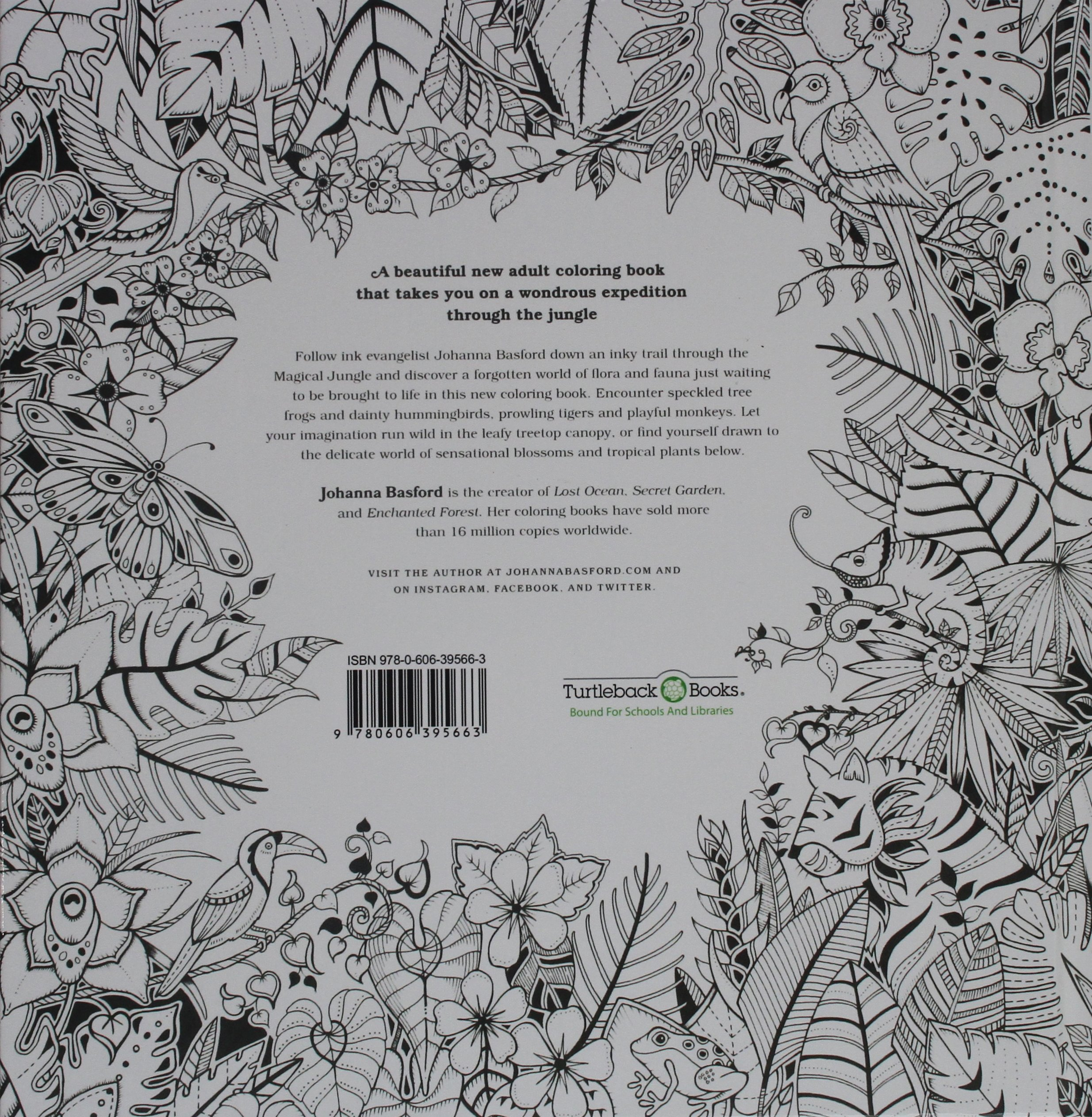 magical jungle an inky expedition and coloring book johanna