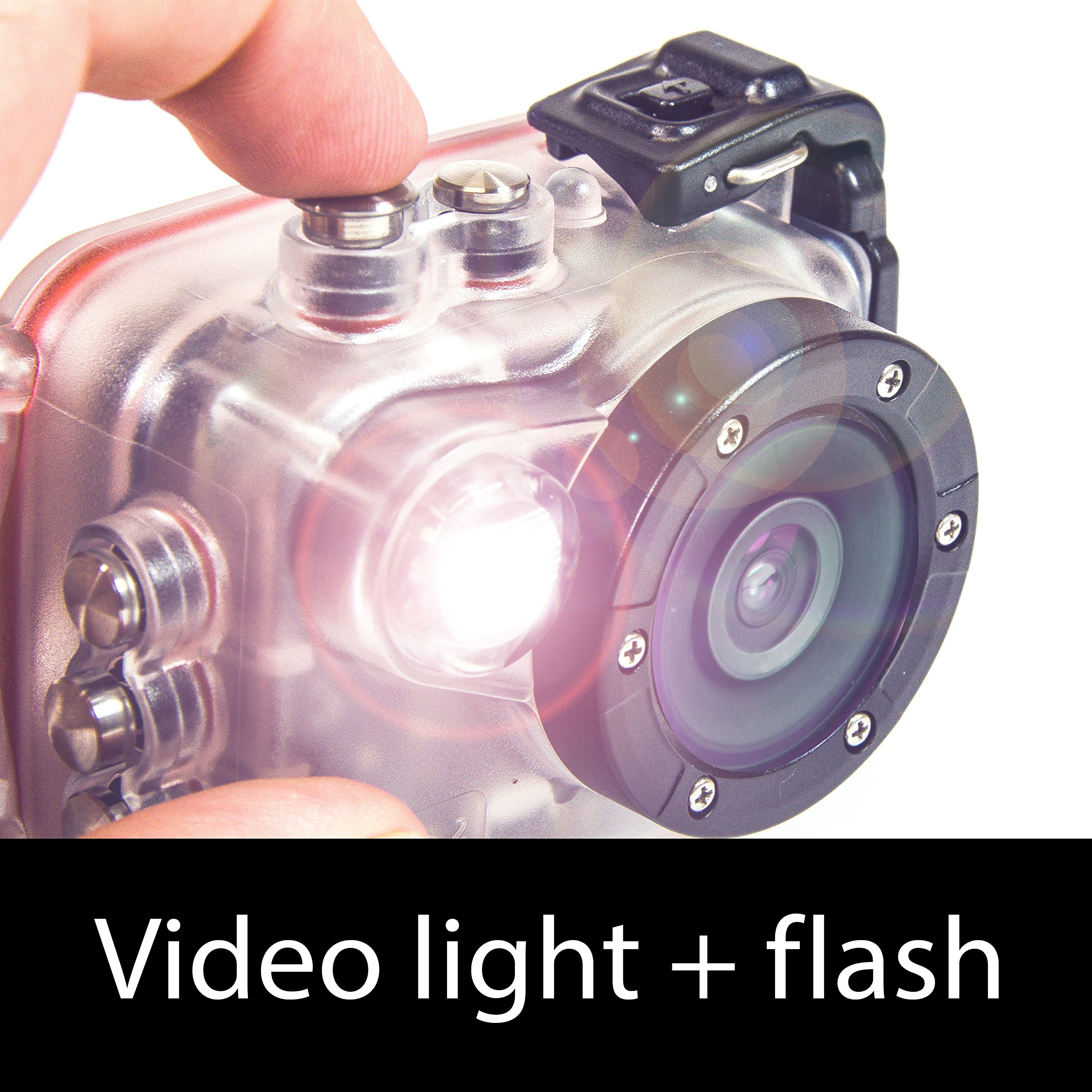 Intova HD2 Waterproof 8MP Action Camera with Built-in 150-Lumen Light and Remote Control by Intova (Image #4)