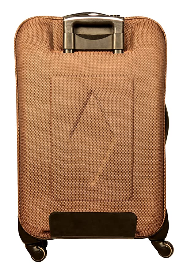 3f0d4c914f2 Diligent Smart Travel Case Polyester 20 Inch Gold Soft Sided Suitcase   Amazon.in  Bags