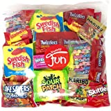 Candy Party Mix Bag Includes Skittles Swedish Fish Nerds Haribo Gummy Sour Patch Twizzlers Life Savers Starburst Sweet Tarts (40 Ounce)