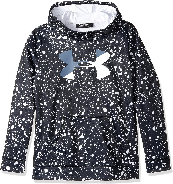 Under Armour Girls' Under Armor Fleece Big Logo Novelty Hoodie: Clothing