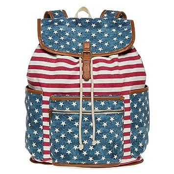 Patriotic Red White Blue Flag Backpack Back Pack