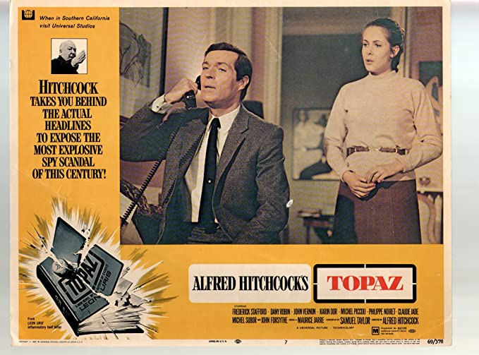 Amazon.com: MOVIE POSTER: Topaz-Frederick Stafford-11x14-Color ...